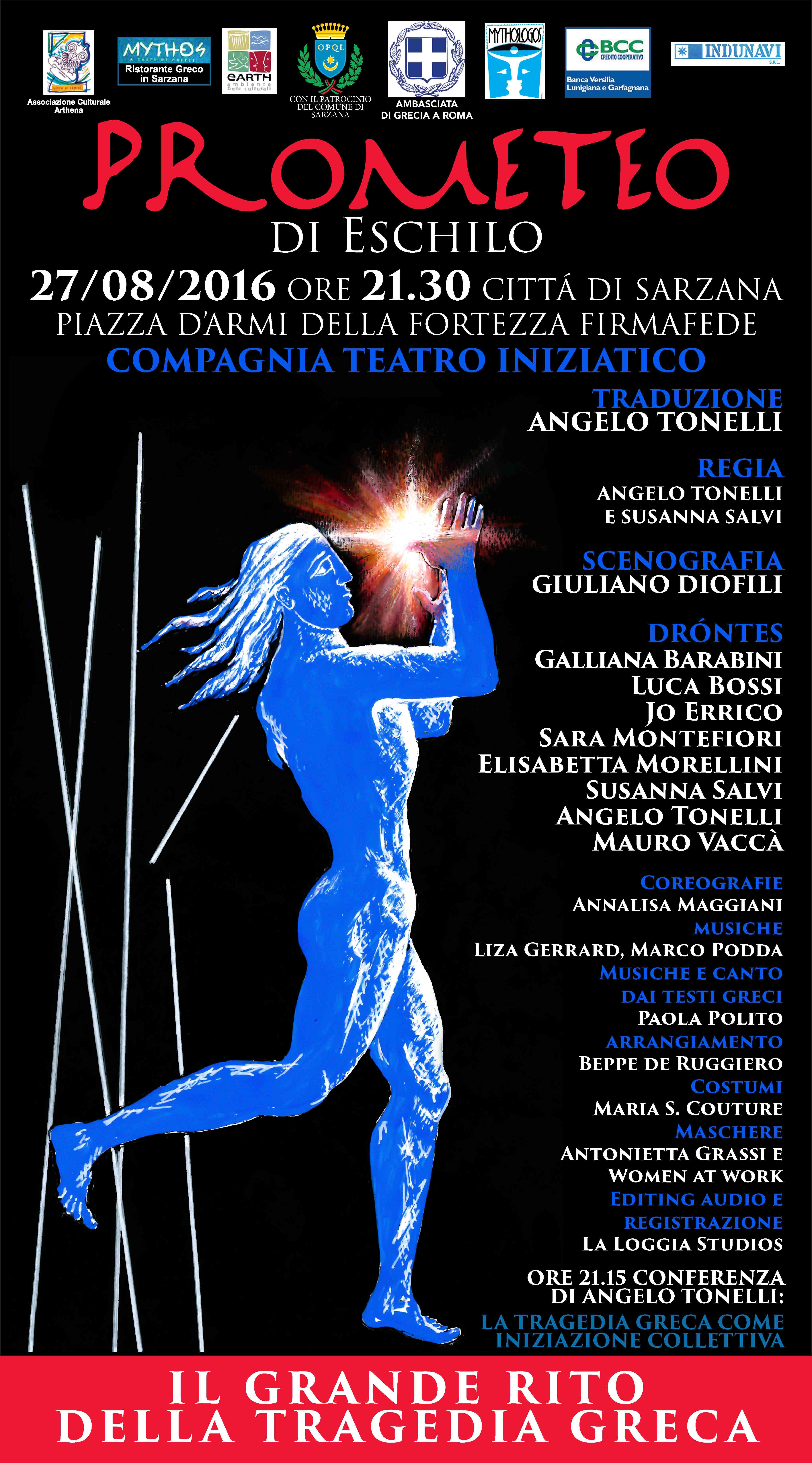 Famoso 27 Agosto: Spettacolo Teatrale Prometeo di Eschilio | Fortezza  CQ65