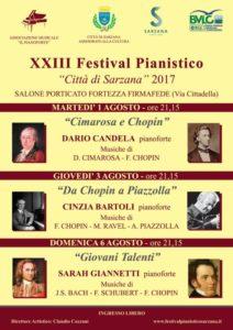 Locandina festival pianistico Agosto 2017
