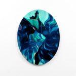 Paolo Treni, Deep Blue, 2016, laser, smalti e vernici su plexiglas, 90x70 cm, ph Gilberti - Petrò